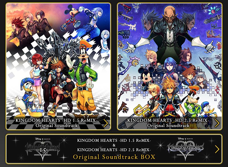 La colonna sonora ufficiale di Kingdom Hearts HD 1.5 & 2.5 ReMIX sarà presto in vendita